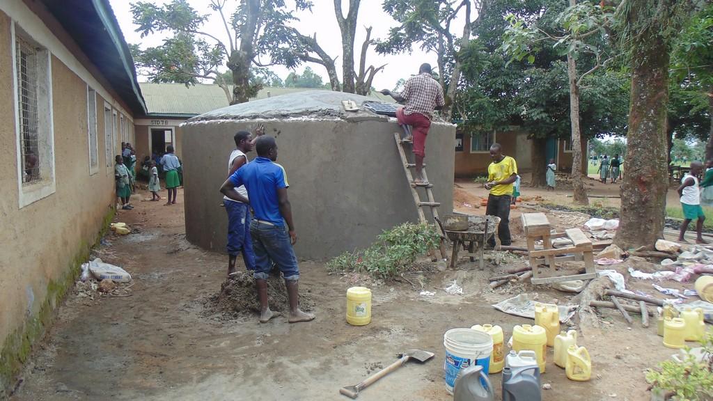 The Water Project : sierra-kenya4329-50-tank-construction
