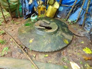 The Water Project : sierra-leone5074-21-latrine-1-inside