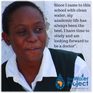 Abigail, 18, student at Igunga Girl's Secondary School