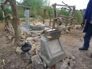 The Water Project : uganda684-14-waiga-constructed-pad