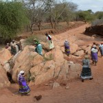 The Water Project: Kwa Mutunga Gabion Sand Dam -