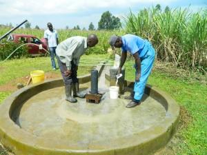 The Water Project : kenya4338b-84-chlorinating-mutsuma-community-borehole