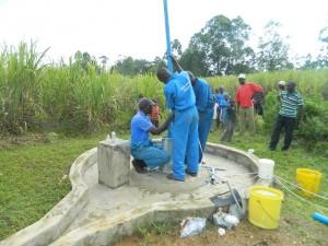 The Water Project : kenya4338b-88-rising-main-pipes-installation