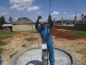 The Water Project : kenya4365-44-pump-installation