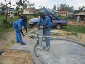 The Water Project : kenya4365-46-pump-installation
