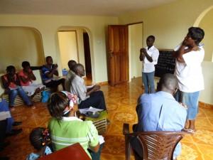The Water Project : sierraleone5061-107-teachers-teaching-back