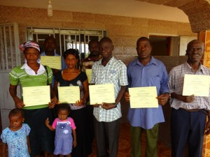 The Water Project : sierraleone5061-108-teachers-with-certificates