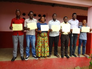 The Water Project : sierraleone5070-131-teachers-with-certificates