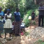 The Water Project: Petro Maloba Spring Protection and Sanplats -