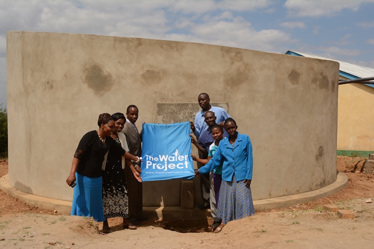 The Water Project : 042-kenya4394-uvanga-primary-school-tank_complete-174-3