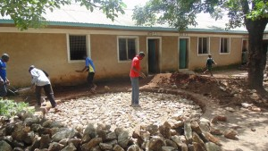 The Water Project : kenya4329-10-foundation-construction