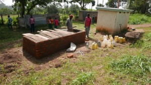 The Water Project : kenya4329-52-latrine-construction