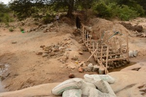 The Water Project : kenya4386-10-dam-in-progress