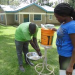 The Water Project: Ebumwende Community Well Rehabilitation Project -  Washing Hands