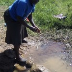 The Water Project: Kabole Spring Protection and Sanitation Project -