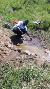 The Water Project : kenya4420-09-unprotected-spring