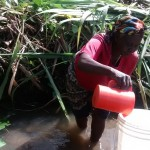 The Water Project: Peter Spring Protection and Sanitation Project -