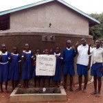The Water Project: Ebulondi Primary School Rainwater Harvesting and VIP Latrines -  Finished Tank
