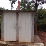 The Water Project: Ebulondi Primary School Rainwater Harvesting and VIP Latrines -  Finished Latrines