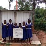 The Water Project: Ebulondi Primary School Rainwater Harvesting and VIP Latrines -  New Girls Latrines