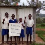 The Water Project: Ebulondi Primary School Rainwater Harvesting and VIP Latrines -  New Boys Latrines