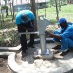 The Water Project: Ebumwende Community Well Rehabilitation Project -  Tightening