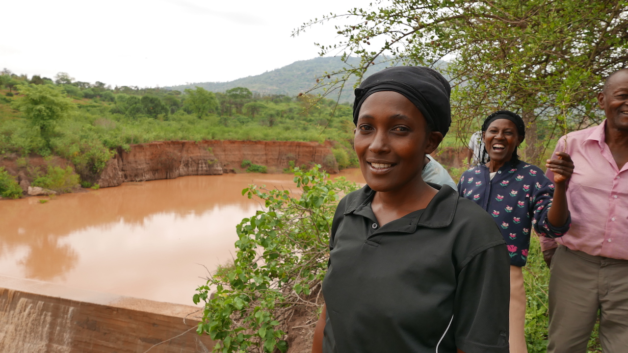 The Water Project : kenya4388-10-sand-dam
