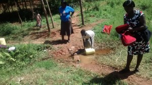 The Water Project : kenya4420-12-unprotected-spring-2