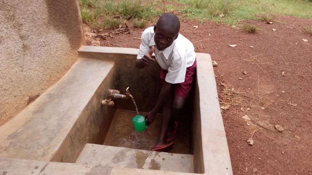 Photo of Ebwiranyi Primary School Rainwater Harvesting and VIP Latrine Project