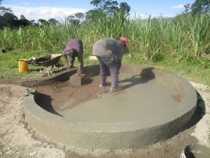 The Water Project : kenya4398-41-pad-construction
