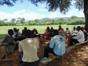 The Water Project : kenya4398-28-committee-training