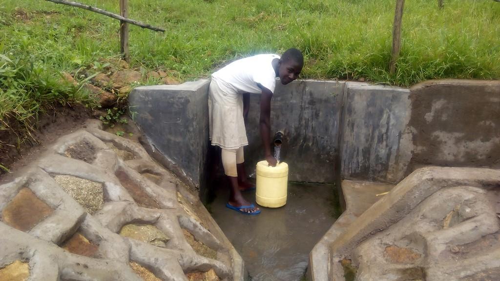 Photo of Mundoli Spring Protection and Sanitation Project