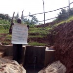The Water Project: Robert Abu Spring Protection and Sanitation Project -