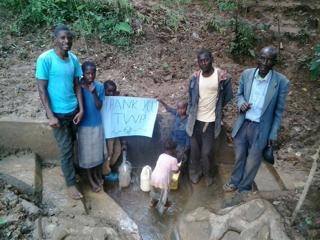 Photo of Laurence Induli Spring Protection and Sanitation Project