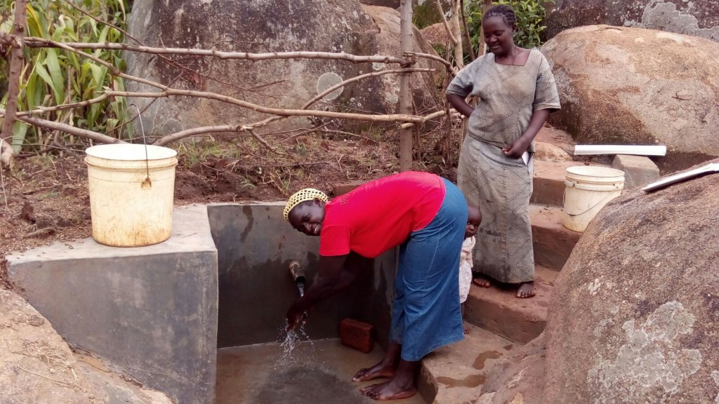 Photo of Johnson Mmeri Spring Protection and Sanitation Project