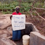 The Water Project: Johnson Mmeri Spring Protection and Sanitation Project -