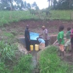 The Water Project: William Katui Spring Protection and Sanitation Project -