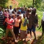 The Water Project: Arthur Okwemba Spring Protection and Sanitation Project -