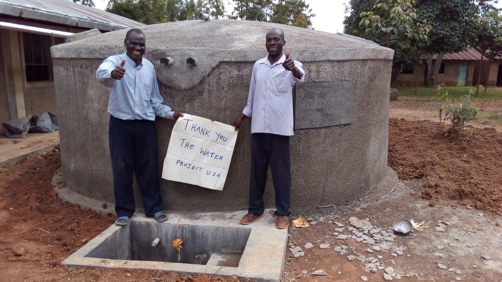The Water Project : kenya4443-30-finished-tank