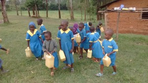 The Water Project : 2-kenya4595-students-fetching-water