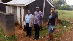The Water Project : 2-kenya4598-checking-latrines