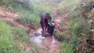 The Water Project : 3-kenya4561-unprotected-spring