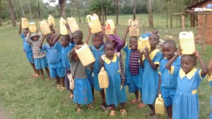 The Water Project : 3-kenya4595-students-fetching-water