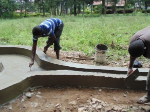 The Water Project : kenya4399-02-well-pad-construction