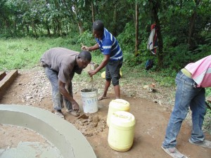 The Water Project : kenya4399-mixing-cement