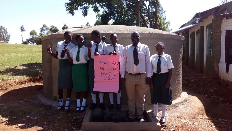 Photo of Ebwiranyi Secondary School Rainwater Catchment Project