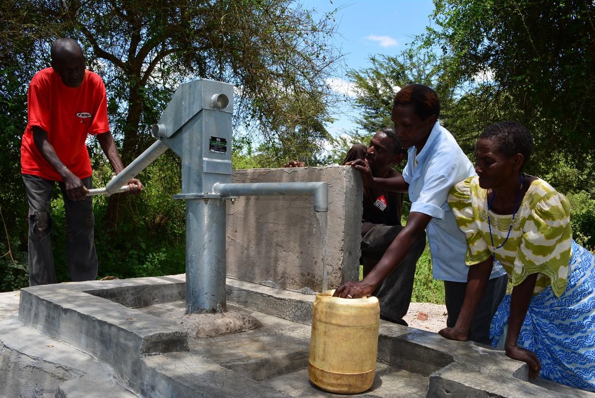 The Water Project Kenya Vinya Wa Mwau New Well Project