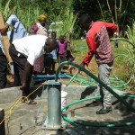 The Water Project: Kakoyi Well Rehabilitation Project -  Test Pumping