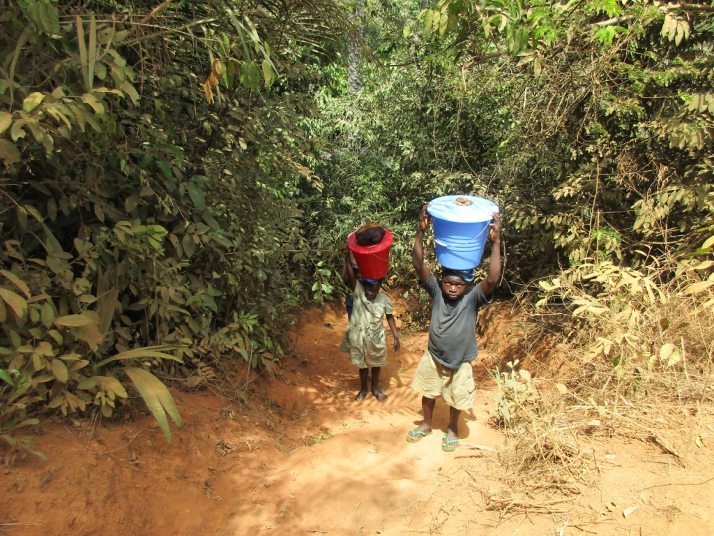 The Water Project : 16-sierraleone5082-person-carrying-water