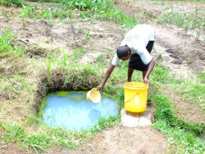 The Water Project : 5-kenya4525-unprotected-spring